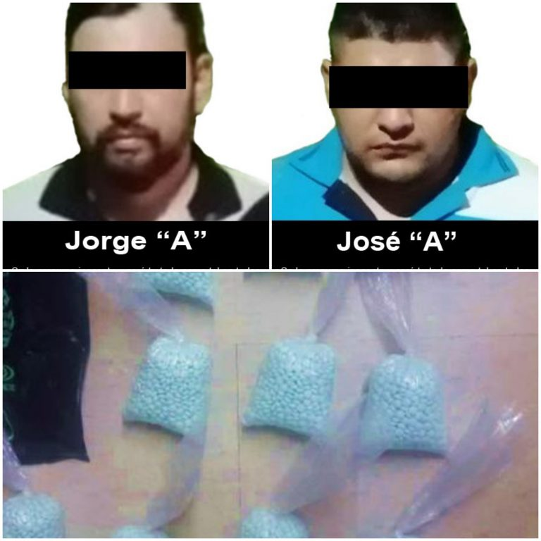 Vinculan a proceso a dos personas por transporte de 10 mil pastillas de fentanilo.