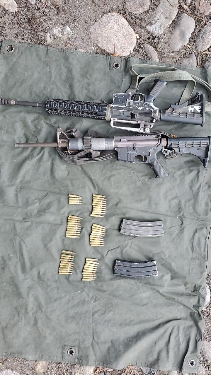 En acción coordinada, aseguran SSP y Sedena dos armas largas y cartuchos útiles