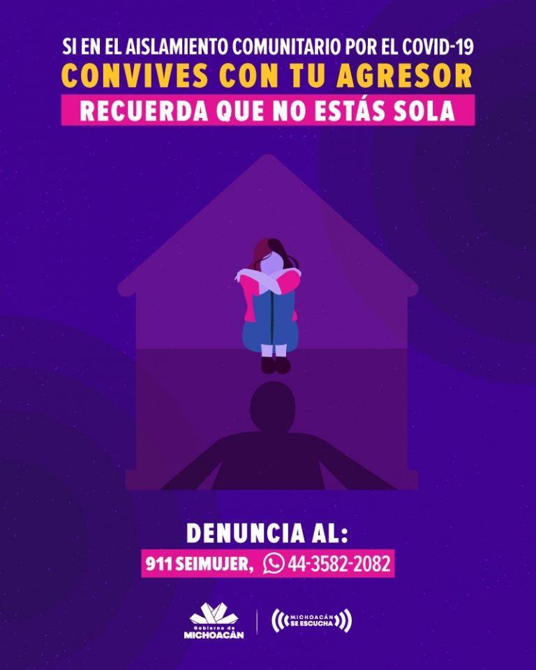 Brinda Michoacán apoyo y resguardo a mujeres víctimas de violencia de género.