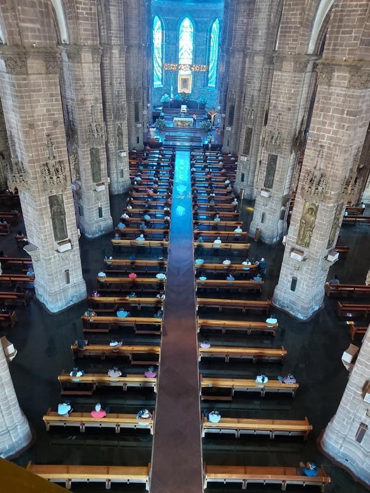 Se aplica protocolo de la Nueva Convivencia en iglesias.