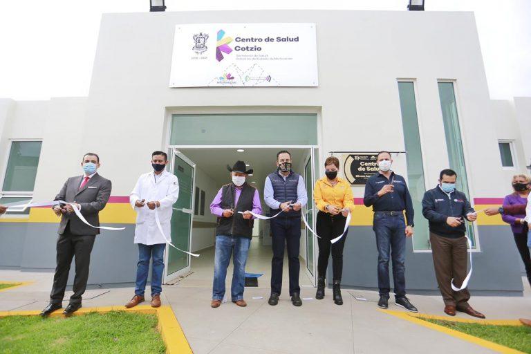 Inaugura Carlos Herrera el Centro de Salud de Cotzio, en Tarímbaro