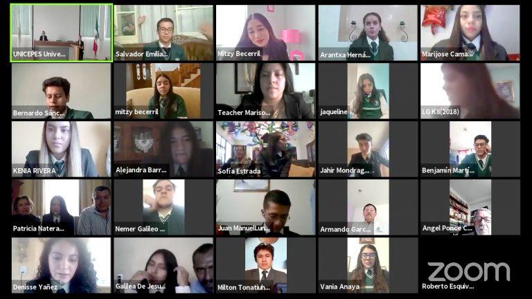 Alumnos del Centro de Estudios Panamericano del nivel bachillerato realizan ceremonia de graduación a través de plataformas digitales