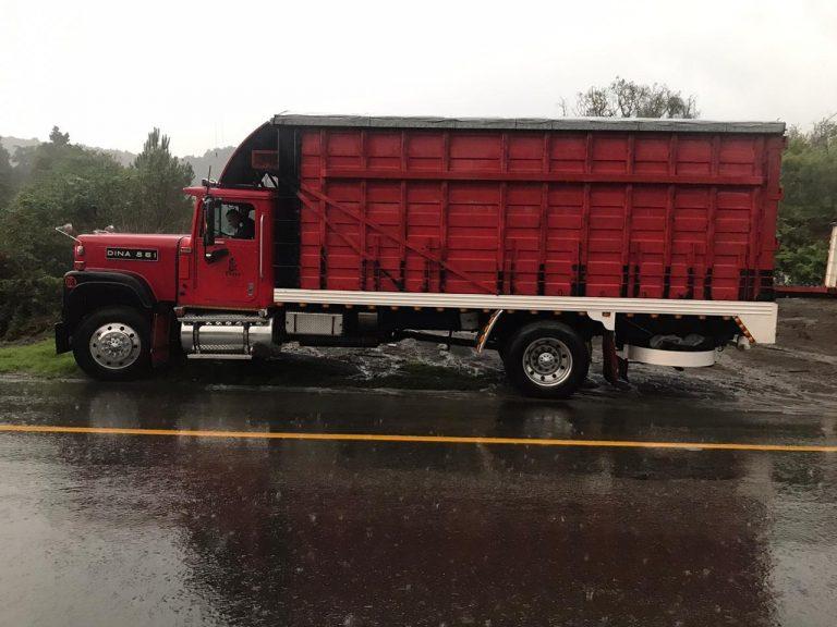 Localiza SSP camión con reporte de robo, en Uruapan.