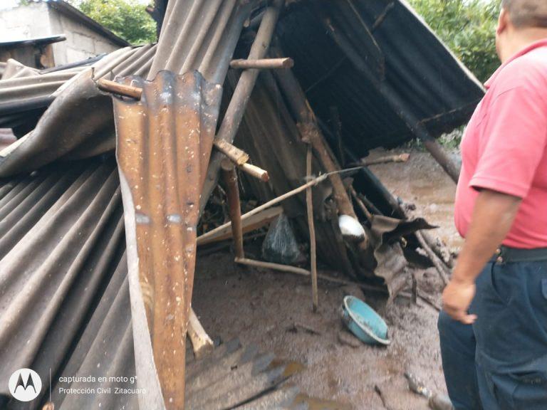 Reporte de afectaciones por deslave en el Cerro  Cacique.
