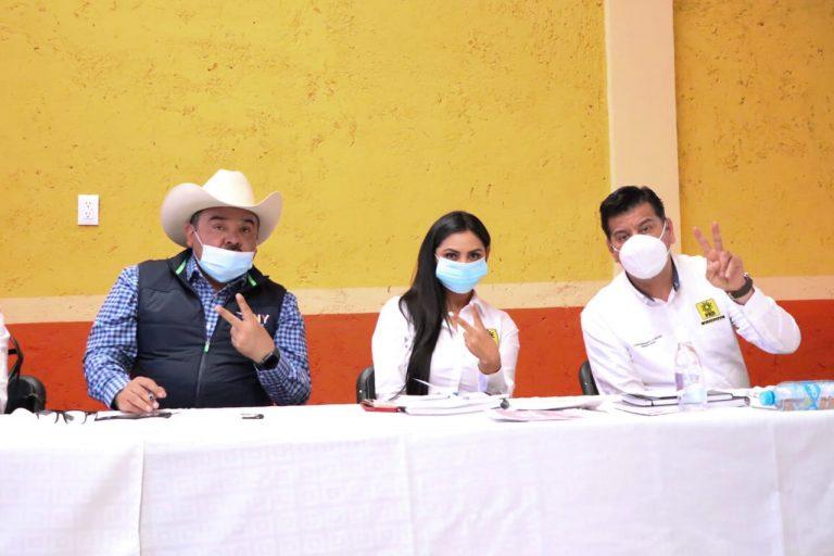 El PRD va en alianza con la gente en el Oriente: Araceli Saucedo y Tony Martínez.