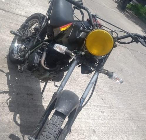 Asegura SSP motocicleta con alteraciones en sus medios de identificación.