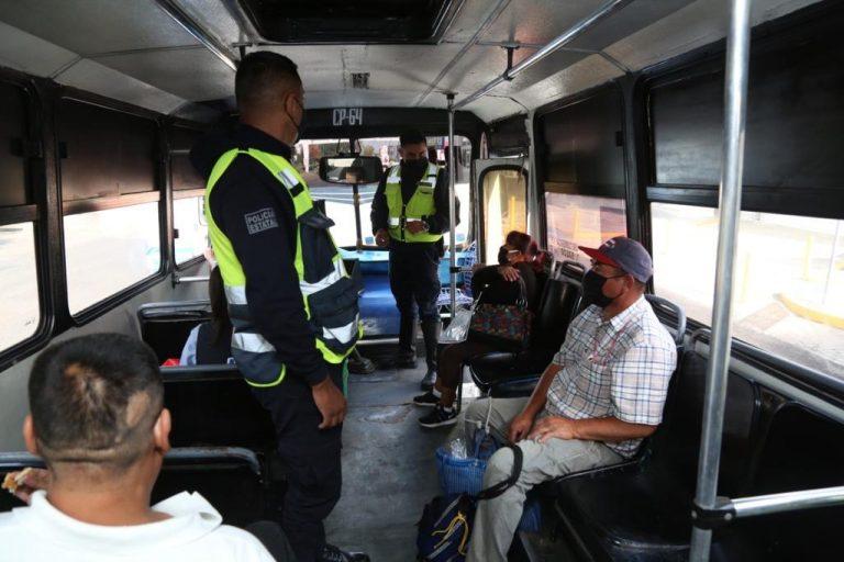 Intensifica SSP trabajos para el uso de cubrebocas en transporte público