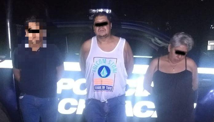 En flagrancia detiene la Policía Michoacán a 3 personas por delito de robo