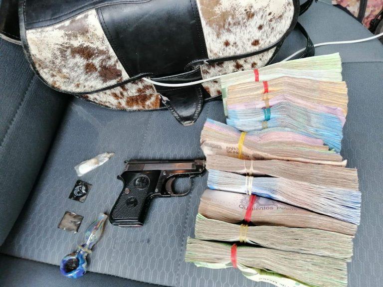 Detiene SSP a uno en posesión de arma de fuego y 235 mil pesos, cuya procedencia no fue acreditada