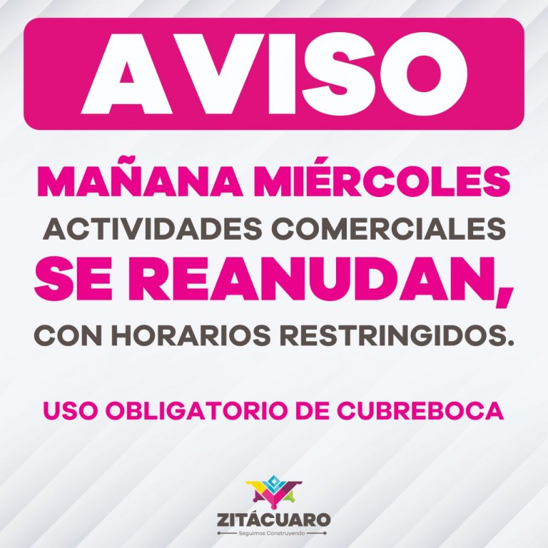 Anuncia Gobierno de municipal, nuevas reglas para Bandera Verde en Zitácuaro