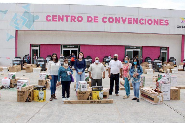 Secretaría de la Mujer llevo a cabo la cuarta entrega del Programa de Apoyo a Hogares Zitacuarenses