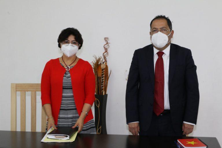 José Luis Téllez se reunió con Anita Sánchez Castro, abordando temas importantes como la instalación de la nueva clínica de primer nivel del IMSS