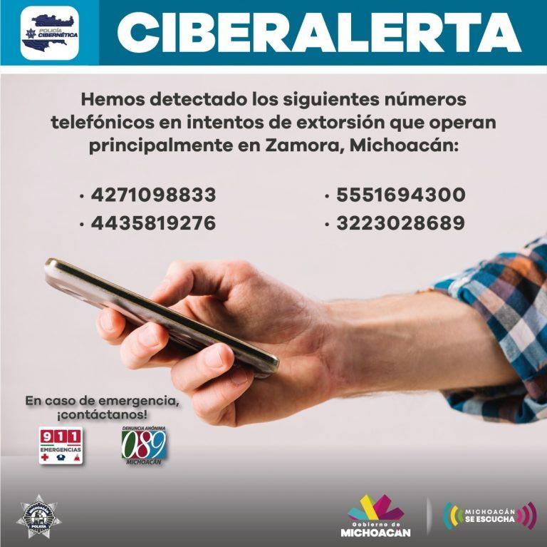 Emite SSP recomendaciones para evitar ser víctima de extorsión telefónica, en región Zamora.