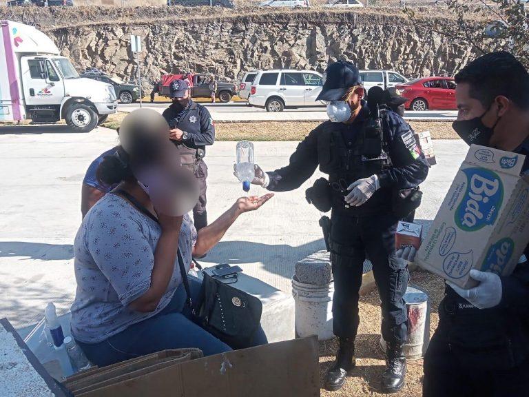 Con entrega de alimentos, se solidariza Policía Michoacán con familiares de pacientes COVID-19