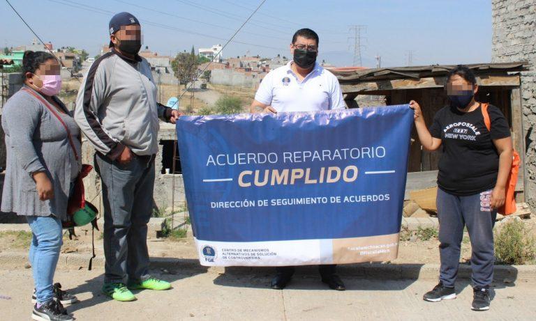 Con acuerdo reparatorio, restituye Fiscalía General inmueble a víctima de Despojo en Morelia
