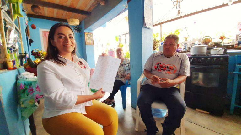 Se compromete Lupita Salgado a gestionar recursos que permitan el desarrollo de la tenencia de Ignacio López Rayón