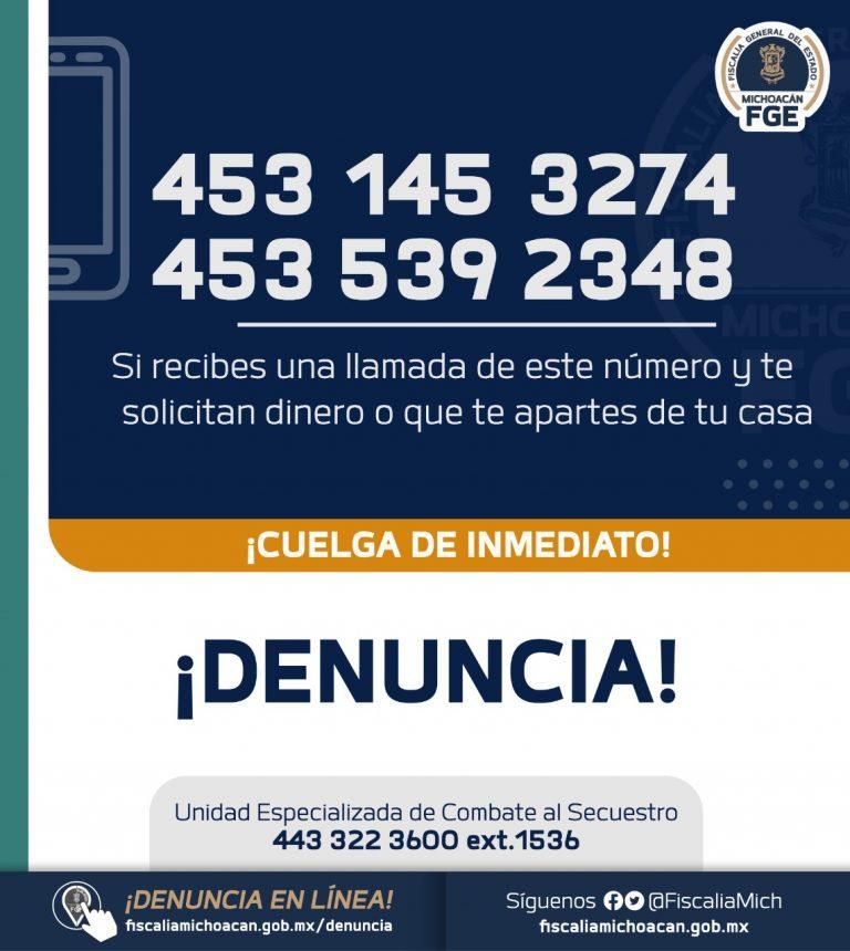 Localiza Fiscalía General a mujer víctima de extorsión virtual en Múgica.