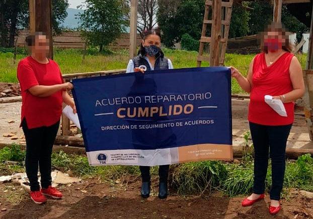 En el Municipio de Hidalgo, restituye CMASC inmueble a una mujer víctima del delito de Despojo