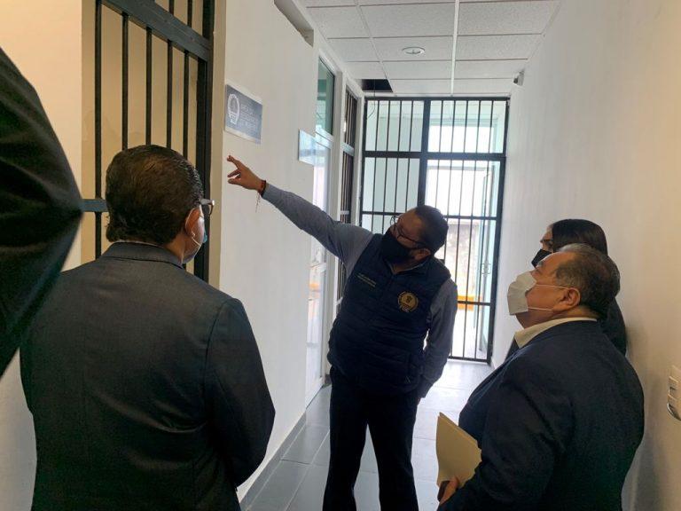 Supervisa FGE áreas de internamiento de la Fiscalía Regional de Zitácuaro.