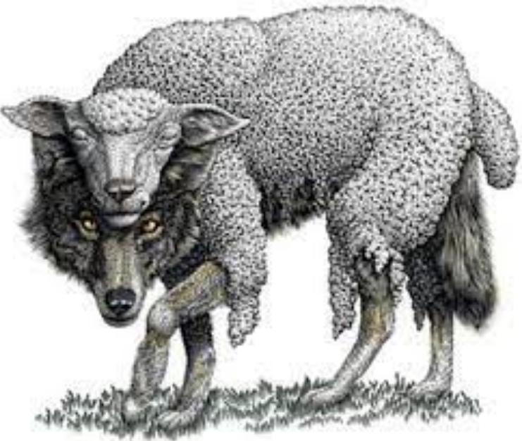 Los lobos disfrazados de oveja.