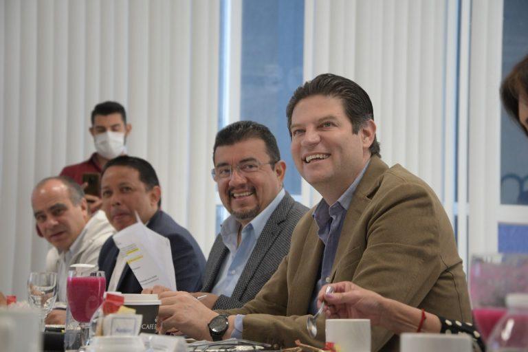 Alfonso Martínez y empresarios cierran filas para que Morelia retome el rumbo.