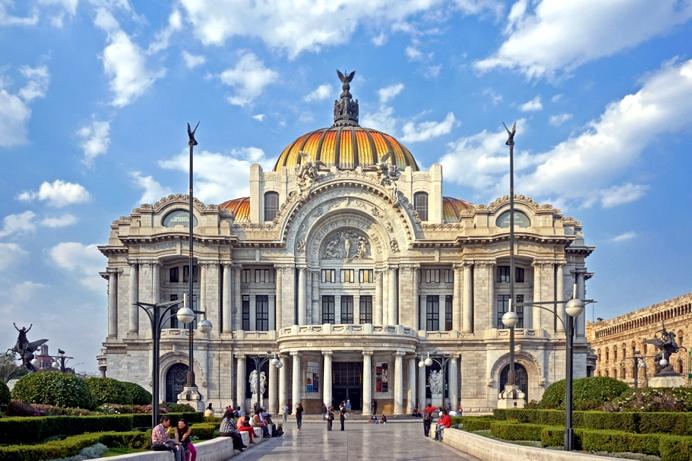 Imagen del Palacio de Bellas Artes de México. Fuente: WikiCommons
