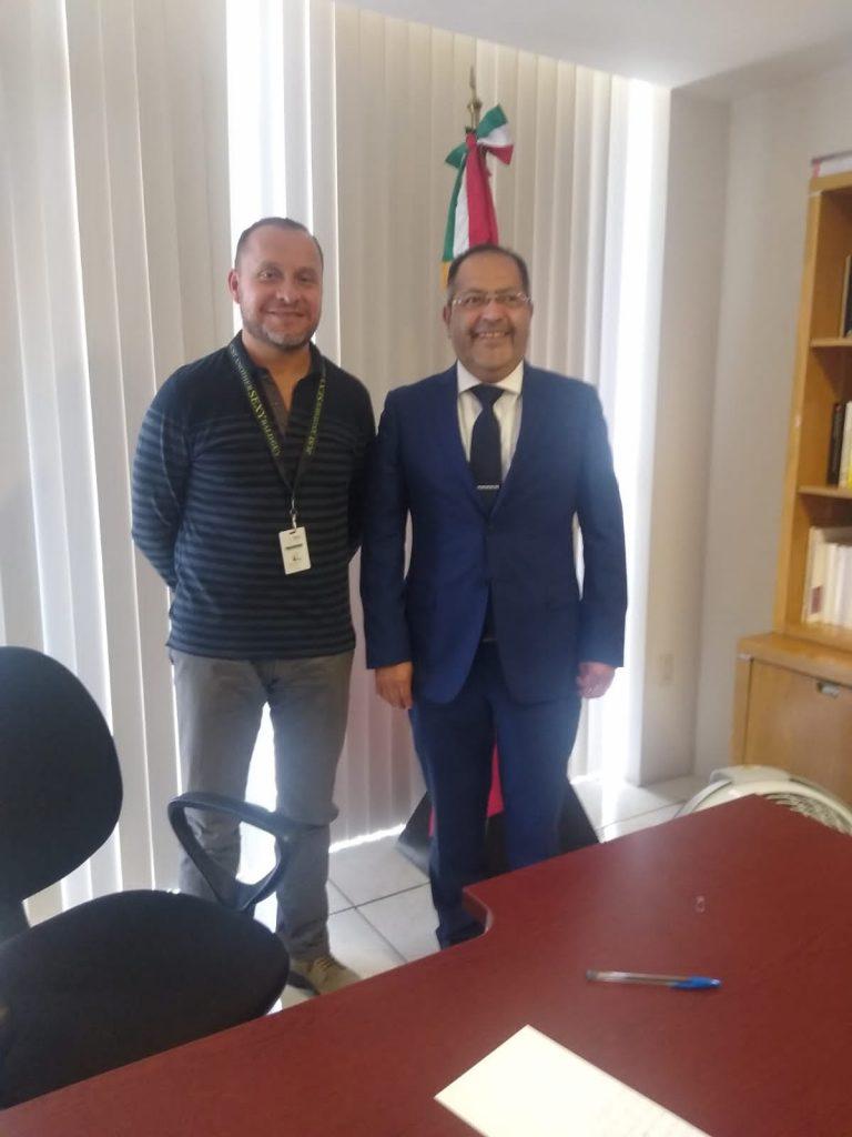 José Luis Téllez se reunió con el Director de la Oficina de Pasaportes en Michoacán de la Secretaría de Relaciones Exteriores