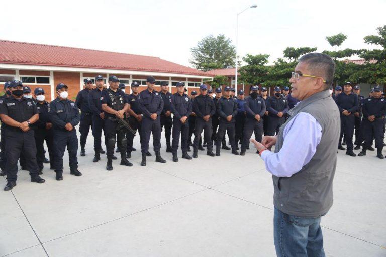 Ortega Reyes supervisa operatividad del Cuartel de la Policía Michoacán Región Apatzingán y Subcentro C5i