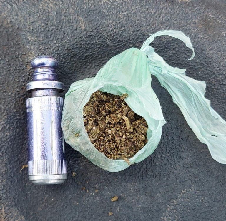 En Zitácuaro, SSP detiene a uno en posesión de marihuana