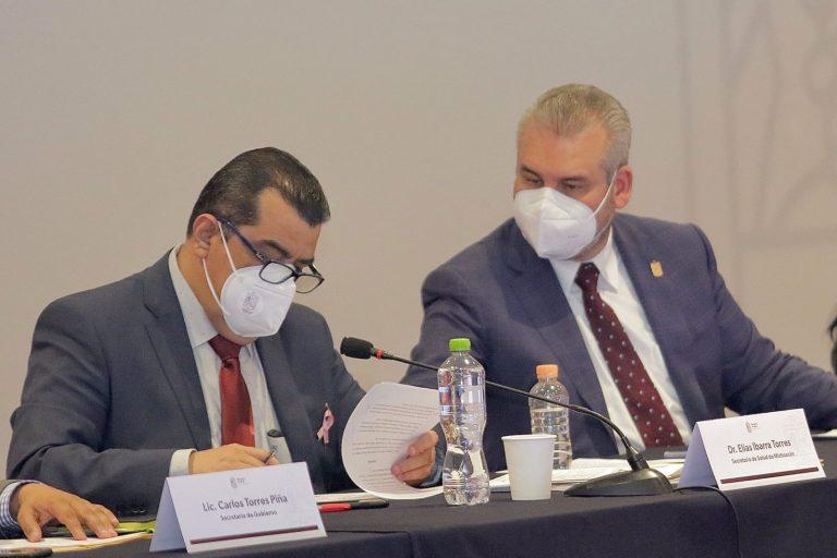 Con apoyo federal se fortalecerá el abasto de medicamentos en sector salud: Bedolla